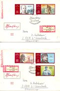 RDA. N°1250-4 De 1970 Sur 2 Enveloppes 1er Jour Ayant Circulé. Lénine.
