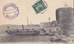 13 / MARSEILLE / ILE DU CHATEAU D IF / DEBARCADERE / COTE NORD / CACHET PRISON DU CHATEAU - Castello Di If, Isole ...