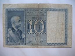 Regno D´Italia Biglietto Di Stato 10 Lire  0143-542409 - [ 2] 1946-… : Repubblica