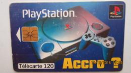 UNE TELECARTE 120 PLAYSTATION - Jeux