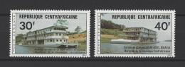 CENTRARICAINE (République) . YT  PA  136/137  Neuf **  Bateaux De Plaisance M. Bokassa  1976 - Central African Republic