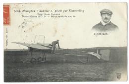 Monoplan Sommer Piloté Par KIMMERLING - Circuit Européen - Moteur Gnôme 50 H.P - Hélice Rapide De 2,60m - Aviateurs