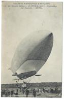 """Grandes Manoeuvres D'Automne - Le Dirigeable Militaire """"La République"""" à L'appareillage Pour L'ascension - Animée - Manoeuvres"""