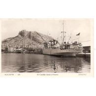 ALCNTP2292CPA-LFT6546TTBC .Tarjeta Postal DE ALICANTE.Barcos,mar.El Castillo Desde El Puerto. Alicante. - Comercio