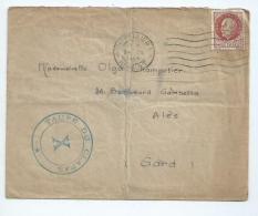 Enveloppe Affranchie Avec 1,50F Pétain Oblitéré De Montpellier ( Hérault) Avec Cachet Privé Taupe Du Clapas Du Lycée - Postmark Collection (Covers)