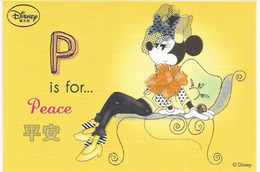 Shanghai Disney Resort (China) Entier Postal Neuf De La Poste Chinoise (P Is For Peace). Deux Photos