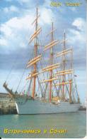 "RUSSIA-KRASNODAR(SOCHI)(chip) - Sailing Ship ""Sedov""(60 Units), Exp.date 01/10/06, Used - Bateaux"