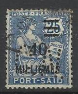 Colonie PORT SAID N° 75  CN 1 Indice 8 Perforé Perforés Perfins Perfin