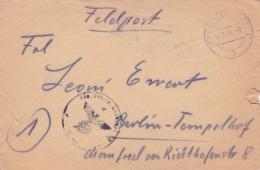 Very Late Feldpost WW2: 2. Fla. E. U. A. Btl. 52 (mot) In Delmenhorst P/m Delmenhorst 12.2.1945 - Cover Only  (SKO14-1) - Militaria