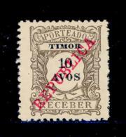 ! ! Timor - 1911 Postage Due 10 A - Af. P15 - NGAI - Timor