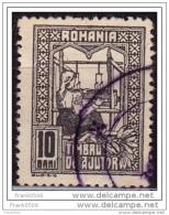 Romania  1916-18, The Queen Weaving, 10b, Used - Usati