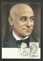 N° 1881 - écrivain MAX JACOB / QUIMPER - Cartes-Maximum