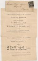 ELECTION Bulletins De Vote Sous Bande. BAYONNE Basses Pyrénées. 1c SAGE Decoupe Ciseaux En Nord Et Sud. - 1877-1920: Periodo Semi Moderno