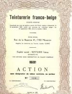 Teinturerie Franco-belge - Mouscron - Actions & Titres