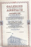 Galeries Et Grand Bazar Du Boulevard Anspach - Actions & Titres