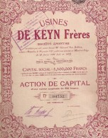 Usines De Keyn Frères - Actions & Titres