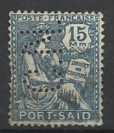 Colonie PORT SAID N° 81  CN 1 Indice 8 Perforé Perforés Perfins Perfin