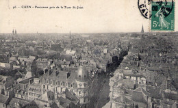 Cpa Caen 14 Calvados Vue Sur St Jean - Caen