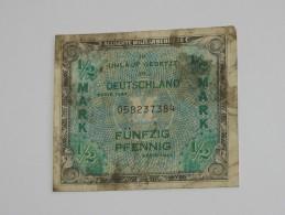 1/2 Mark Fünfzig Pfennig - Allied Occupation WWII - ALLEMAGNE - Série 1944  **** EN ACHAT IMMEDIAT **** - [ 5] 1945-1949 : Occupation Des Alliés