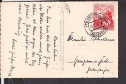 Deutsches Reich Postkarte 678 EF ( WhW Briefmarke ) 1939 Stempel Friedrichshafen - Deutschland