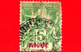 INDOCINA - Indo-Chine - Usato - 1899 - Allegoria Della Pace E Del Commercio - 5 - Indochina (1889-1945)