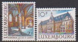 Luxemburg 1983 MiNr.1081 - 1082 **postfrisch Bauwerke ( 3579 ) - Luxemburg