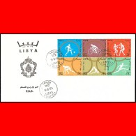 LIBYA - 1964 Tokyo Japan Olympics Olympic Games PERFORATED (FDC) - Summer 1964: Tokyo