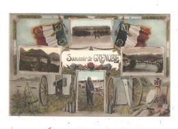 Souvenir De Grenoble -Militaire; Drapeau- Canon; Drapeaux -(B.4690) - Militari