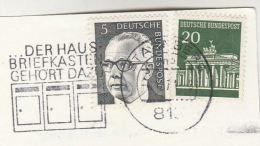 1971 GERMANY Stamps COVER Card SLOGAN Illus  MAILBOX The HOME MAIL BOX Der Haus Briefkasten GehOrt Dazu - Post