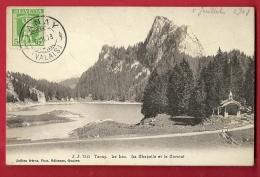 FIH-11  Tanay  Le Lac. La Chapelle Et Le Cormat. Cachet Frontal 1908 - VS Valais