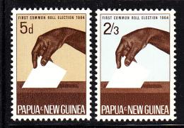 Papua New Guinea MNH Scott #182-#183 Set Of 2 Casting Ballot - Papouasie-Nouvelle-Guinée