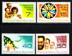 Papua New Guinea MNH Scott #517-#520 Set Of 4 National Census - Papouasie-Nouvelle-Guinée