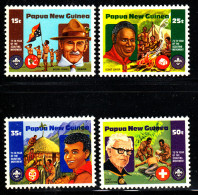 Papua New Guinea MNH Scott #554-#557 Set Of 4 Boy Scouts 75thh Anniversary - Papouasie-Nouvelle-Guinée