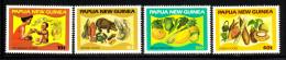 Papua New Guinea MNH Scott #562-#565 Set Of 4 Healthy Nutrition - Papouasie-Nouvelle-Guinée