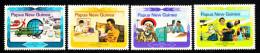 Papua New Guinea MNH Scott #584-#587 Set Of 4 World Communication Year - Papouasie-Nouvelle-Guinée