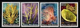 Papua New Guinea MNH Scott #588-#591 Set Of 4 Corals - Papouasie-Nouvelle-Guinée