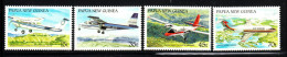 Papua New Guinea MNH Scott #687-#690 Set Of 4 Airplanes: Cessna, Britten-Norman, Otter, Fokker - Papouasie-Nouvelle-Guinée