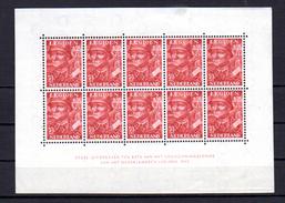 1942  Nederland   Pour La  Légion, BF 1**, Cote 170 €, - Blocks & Sheetlets