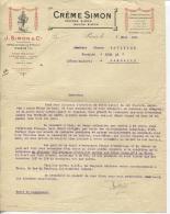 FACTURE - PARIS - ETS J.SIMON & Cie - CREME POUDRE SAVON... - Datée 07/03/1921 - Chemist's (drugstore) & Perfumery