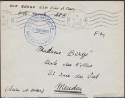 France 1962. Lettre En Franchise Militaire. Base Des Sous-marins, Marine Nationale