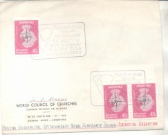 SOBRE ENVIADO POR EL WORLD COUNCIL OF CHURCHES CONSEJO MUNDIAL DE IGLESIAS EN 1961 A LA OFICINA RADIOPOSTAL DETACAMENTO - Sellos