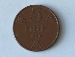 NORVEGE 5 ORE 1931 - Norvège