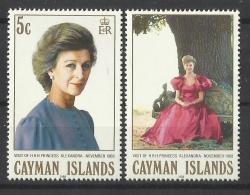 CAYMAN ISLANDS 1988 PRINCESS ALEXANDRAS VISIT MNH - Iles Caïmans
