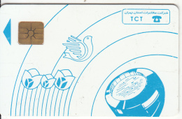 IRAN - Blue Handset, TCT Telecard, Chip GEM1.2, Used - Iran