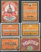 BIERE - BIER - BEER - CERVEZA - PIWO - BIRRA / LOT DE 6 ETIQUETTES NEUVES DIFFERENTES - LABELS (ref 7209) - Bière