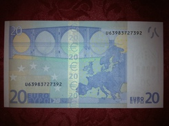 20 EURO - FRANCE - FRANCE - U63983727392 - L086 H4 - CHARGE 98 - MD - DRAGHI - UNC - Ref UD4049 - EURO