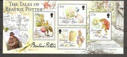 IOM Isle Of Man 2006 Michel No. Bl. 58 (1321-24) 140th Birthday Helen Beatrix Potter 140. Geburtstag MNH Postfrisch - Isola Di Man