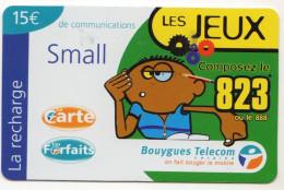 ANTILLES FRANCAISES RECHARGE BOUYGUES TELECOM LES JEUX SMALL 15€ Date 03/2002 - Antilles (French)