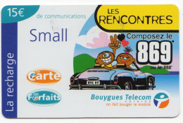 ANTILLES FRANCAISES RECHARGE BOUYGUES TELECOM LES RENCONTRES SMALL 15€ Date 03/2002 - Antilles (French)
