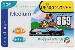 ANTILLES FRANCAISES RECHARGE BOUYGUES TELECOM LES RENCONTRES MEDIUM 20€ Date 03/2002 - Antilles (French)